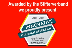 "Seal of Approval ""INNOVATIVE THROUGH RESEARCH 2016/2017"""